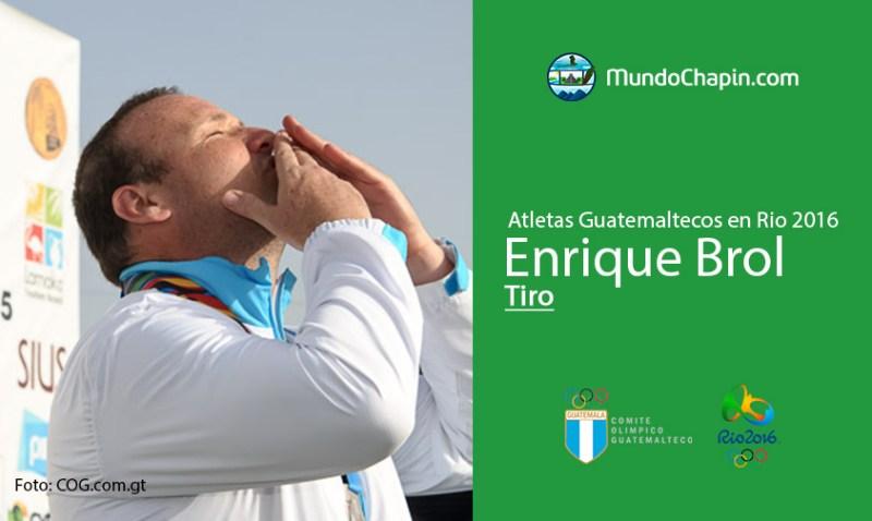enrique brol rio2016 mundochapin - Los 21 atletas guatemaltecos en Río 2016