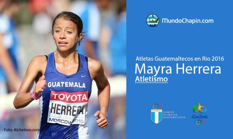 mayra herrera rio2016 mundochapin - Los 21 atletas guatemaltecos en Río 2016