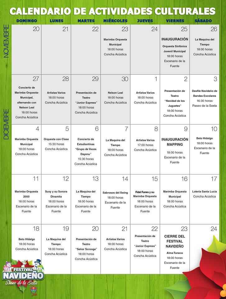 mundochapin calendario festival navideno - Todo listo para el festival navideño