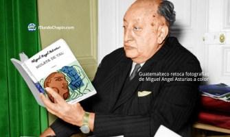 Guatemalteco retoca fotografías de Miguel Angel Asturias a color
