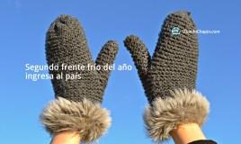 Segundo frente frío del año ingresa al país