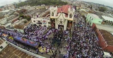 salida de cristo rey candelaria ciudad de guatemala 5 foto por skycamguatemala - Centenario Jesús de Candelaria