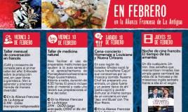 Febrero en la Alianza Francesa de La Antigua Guatemala