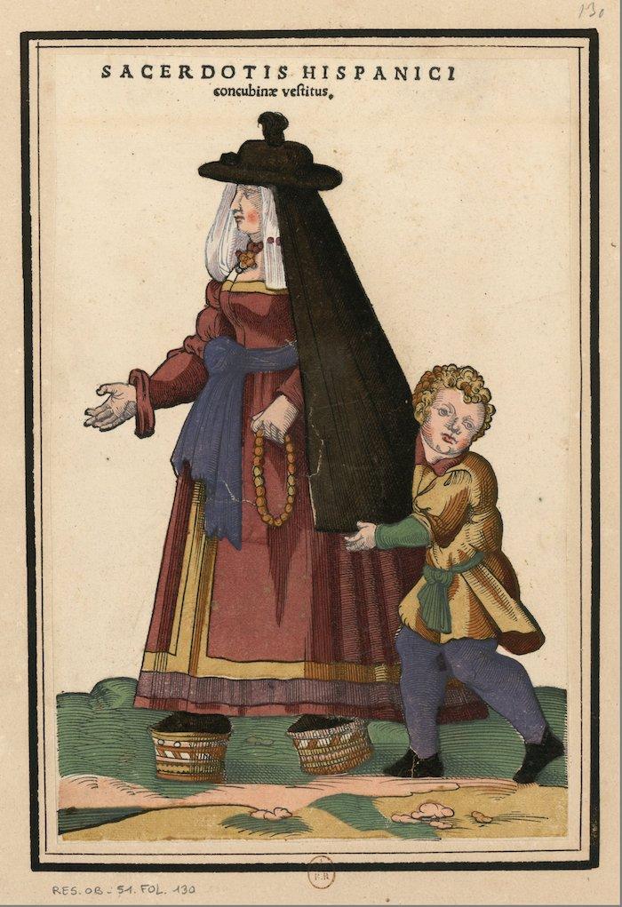 ensemble de gravures de costumes espagnols du xvie siecle f08 2 - De cómo llegamos a ser chapines los guatemaltecos