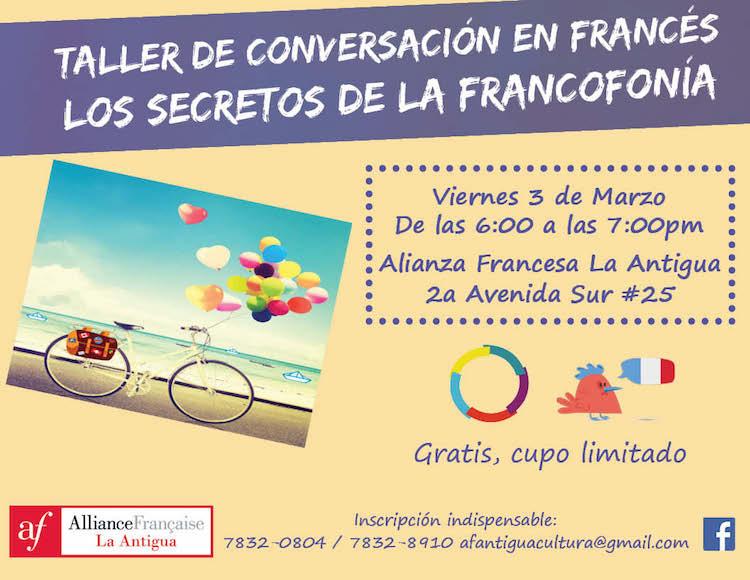 taller conversacion marzo 1 - Marzo en la Alianza Francesa
