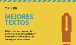 """Taller de escritura creativa """"Mejores Textos"""" – Junio 8"""