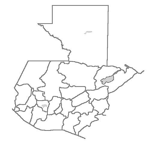 Mapa de la República de Guatemala para colorear - Solo lo