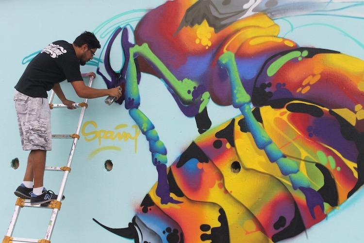 abeja san juan sacatepequez 2016 - El arte urbano de Spaint se luce en Miami