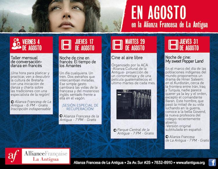 afa 08 - Agosto en la Alianza Francesa de La Antigua Guatemala