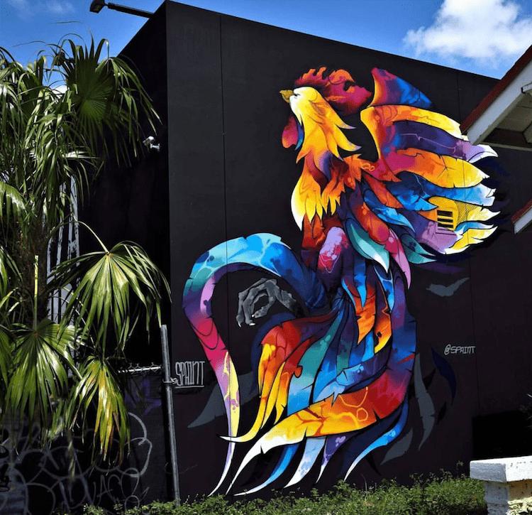 foto por david ortiz - El arte urbano de Spaint se luce en Miami
