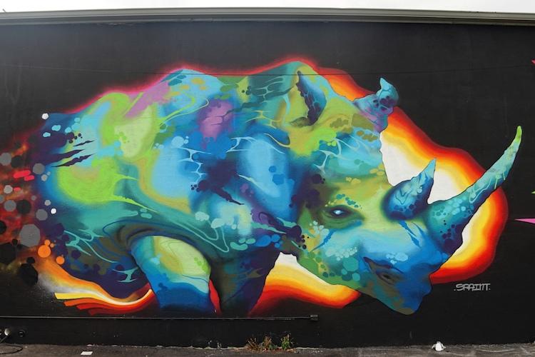 rinoceronte miami art basel 16 1 - El arte urbano de Spaint se luce en Miami