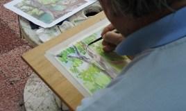El maestro Ajín es un potencial artista de la acuarela en Guatemala