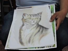 foto 3 por gustavo balcarel - El maestro Ajín es un potencial artista de la acuarela en Guatemala