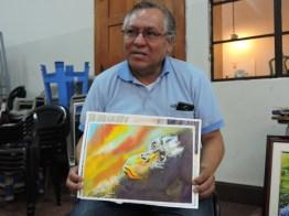 foto 5 por gustavo balcarcel - El maestro Ajín es un potencial artista de la acuarela en Guatemala