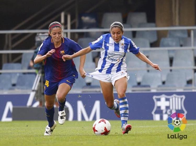 ana lucia martinez 3 - De jugar fútbol en el Campo Marte a destacar en las canchas de España
