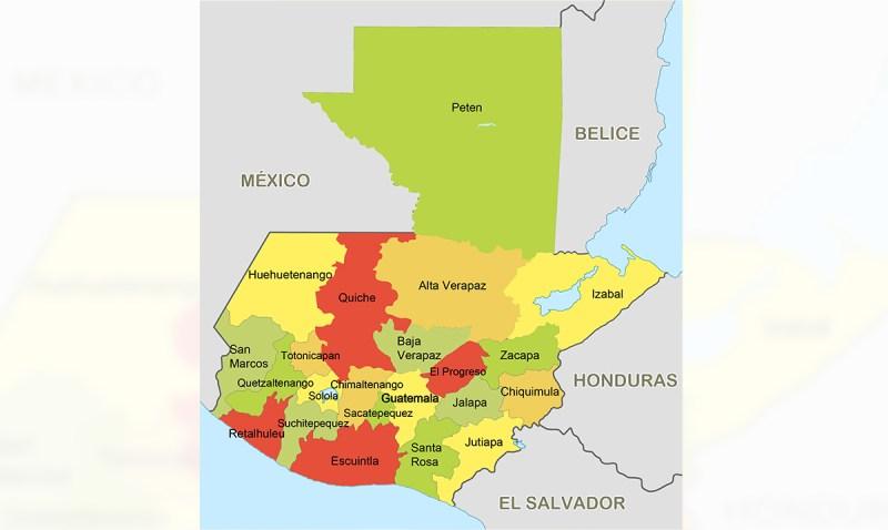 Significado del nombre de los departamentos en Guatemala