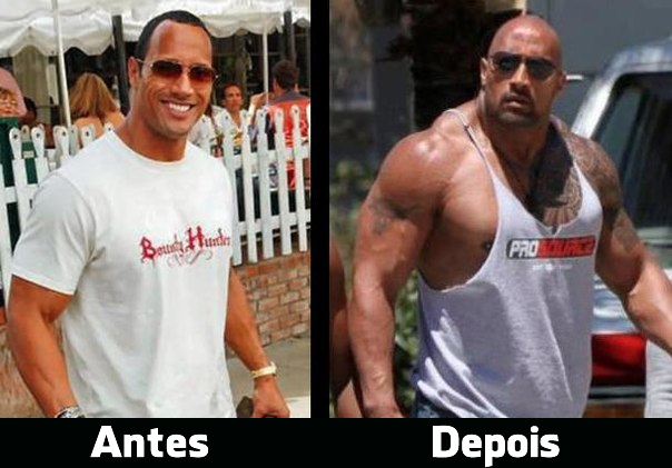 the rock antes e depois