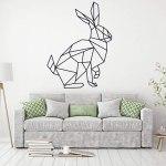Vinilo decorativo conejo negro estilo nórdico