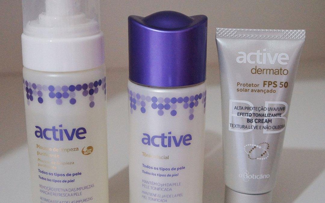 Cuidando da pele com produtos do Boticário