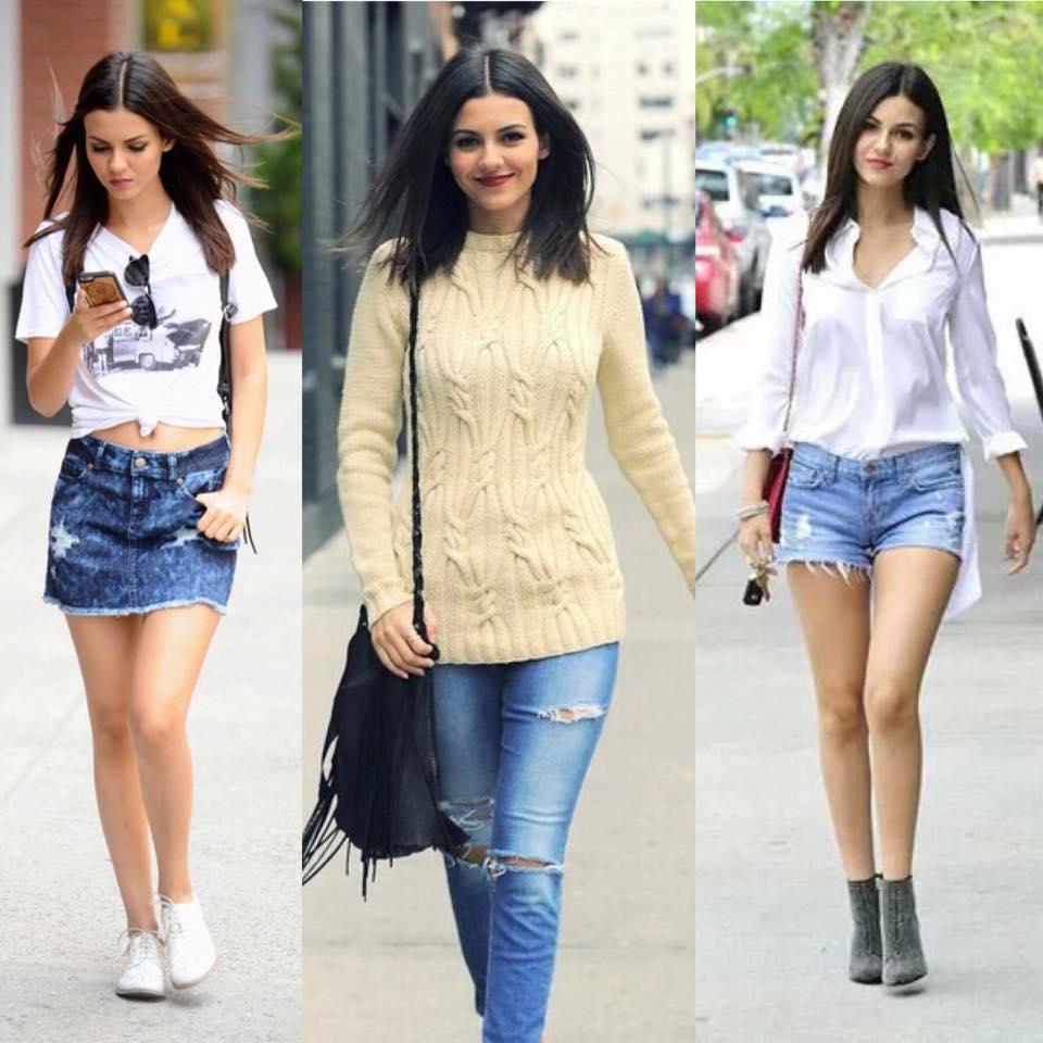Estilo Victoria Justice Jeans Básico