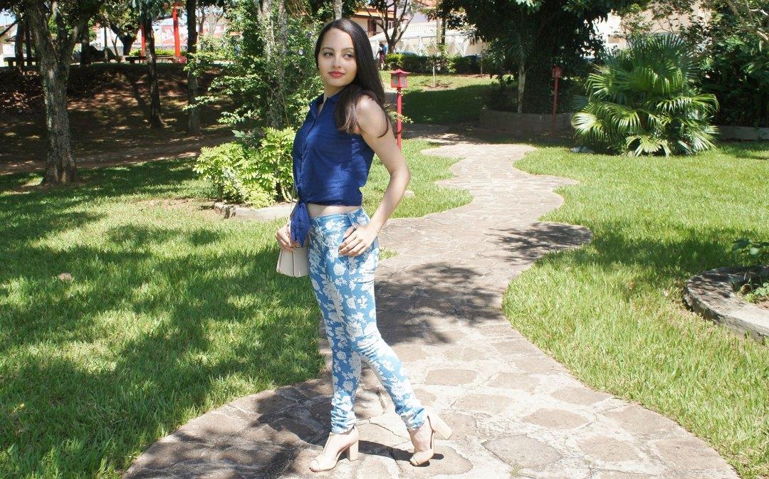Look do Dia Azul e Nude