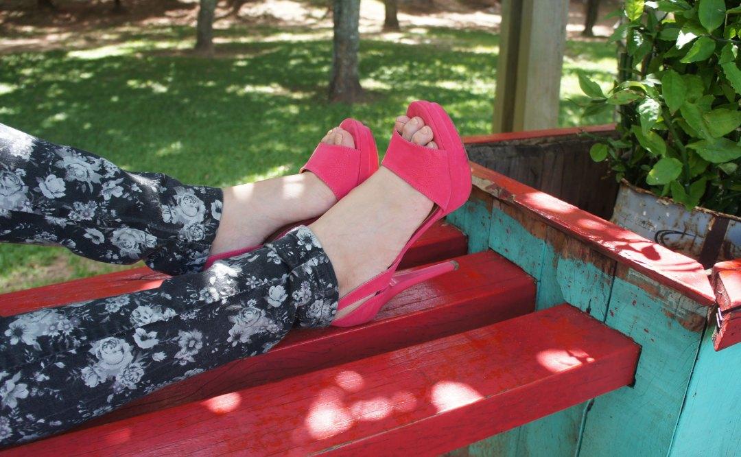 Look do Dia Calçado Pink