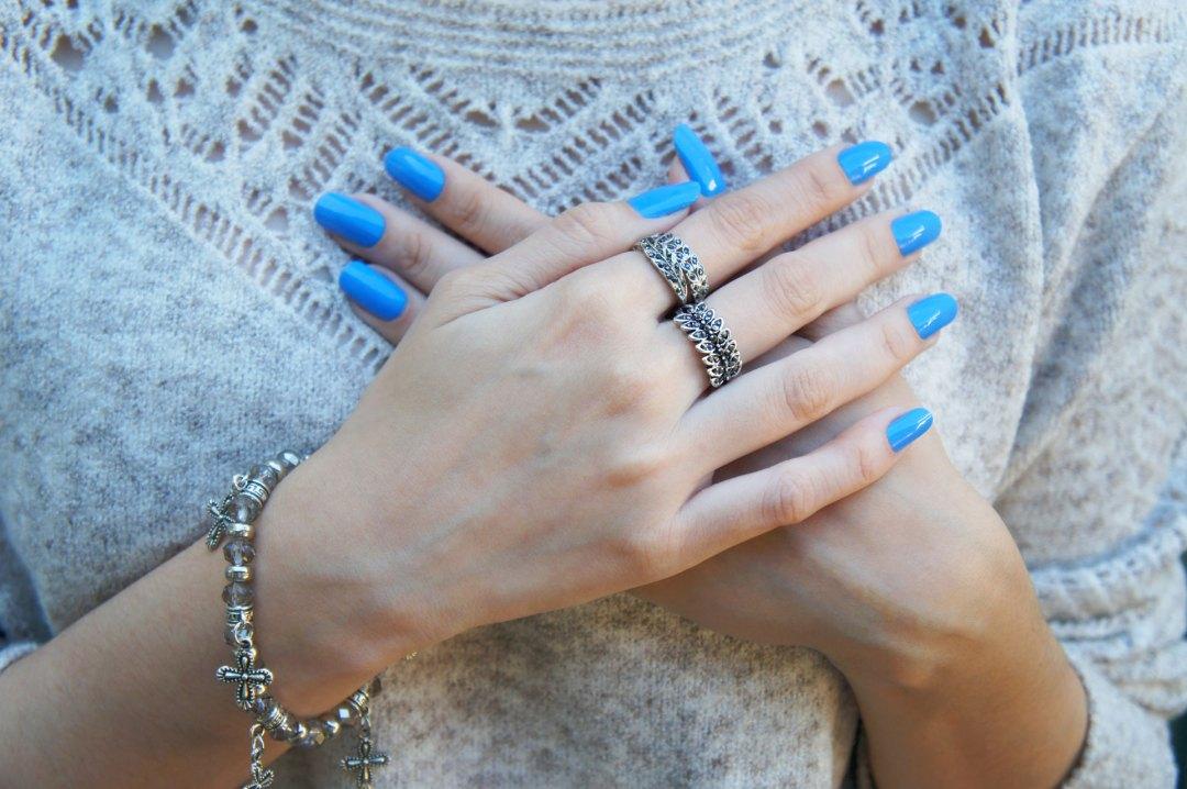 Nail Azul