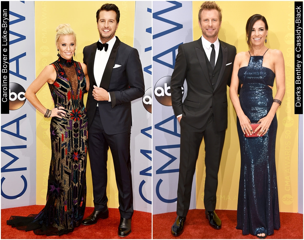 CMA Awards 2016 Caroline Boyer Luke Bryandierks Bentley Cassidy Black