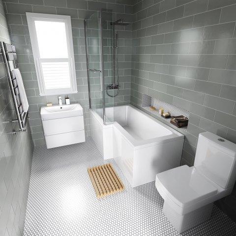 reforma de baño en L