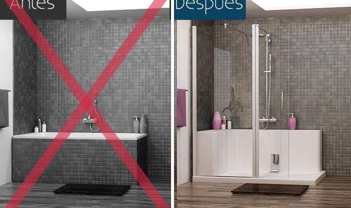 razones para cambiar la bañera por un plato de ducha