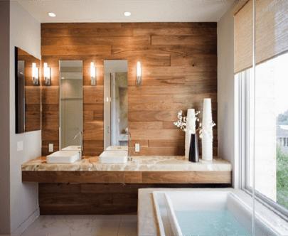 madera para baño