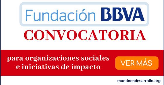Convocatoria Fundación BBVA