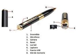 lapicero esfero boigrafo camara espia