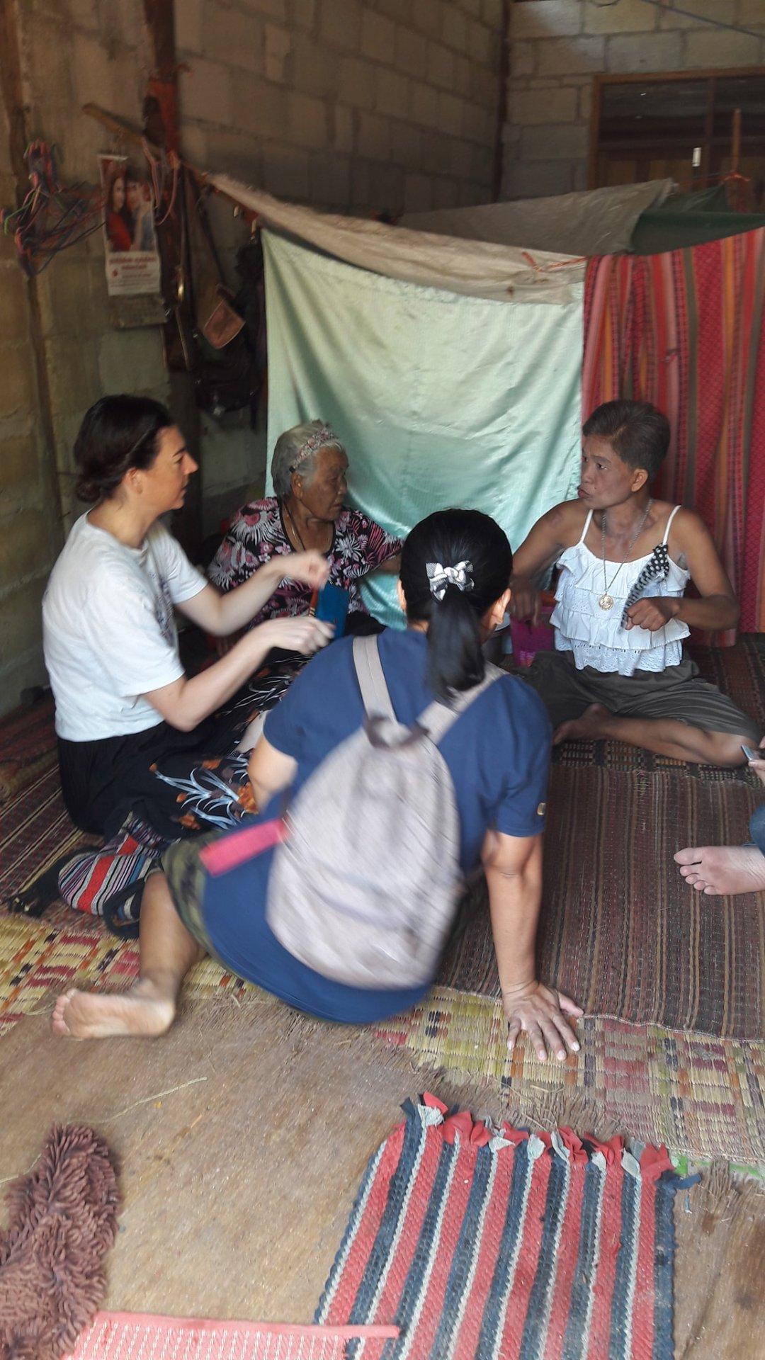 Mundo and Lokgatat interviewing elder and her daughter