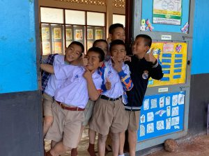 group of boys at kamplafa school education program