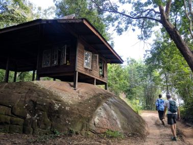 photos of isan monk hut in forest