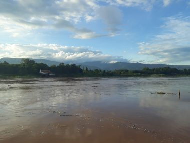 photos of buengkan mekong river and moutains