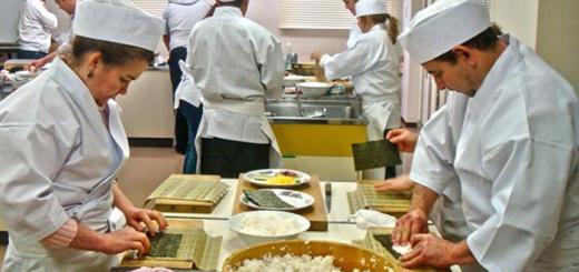 curso de comida japonesa
