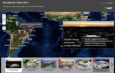 copachile Mapa interativo mostra locais e informações da Copa do Mundo de 2014