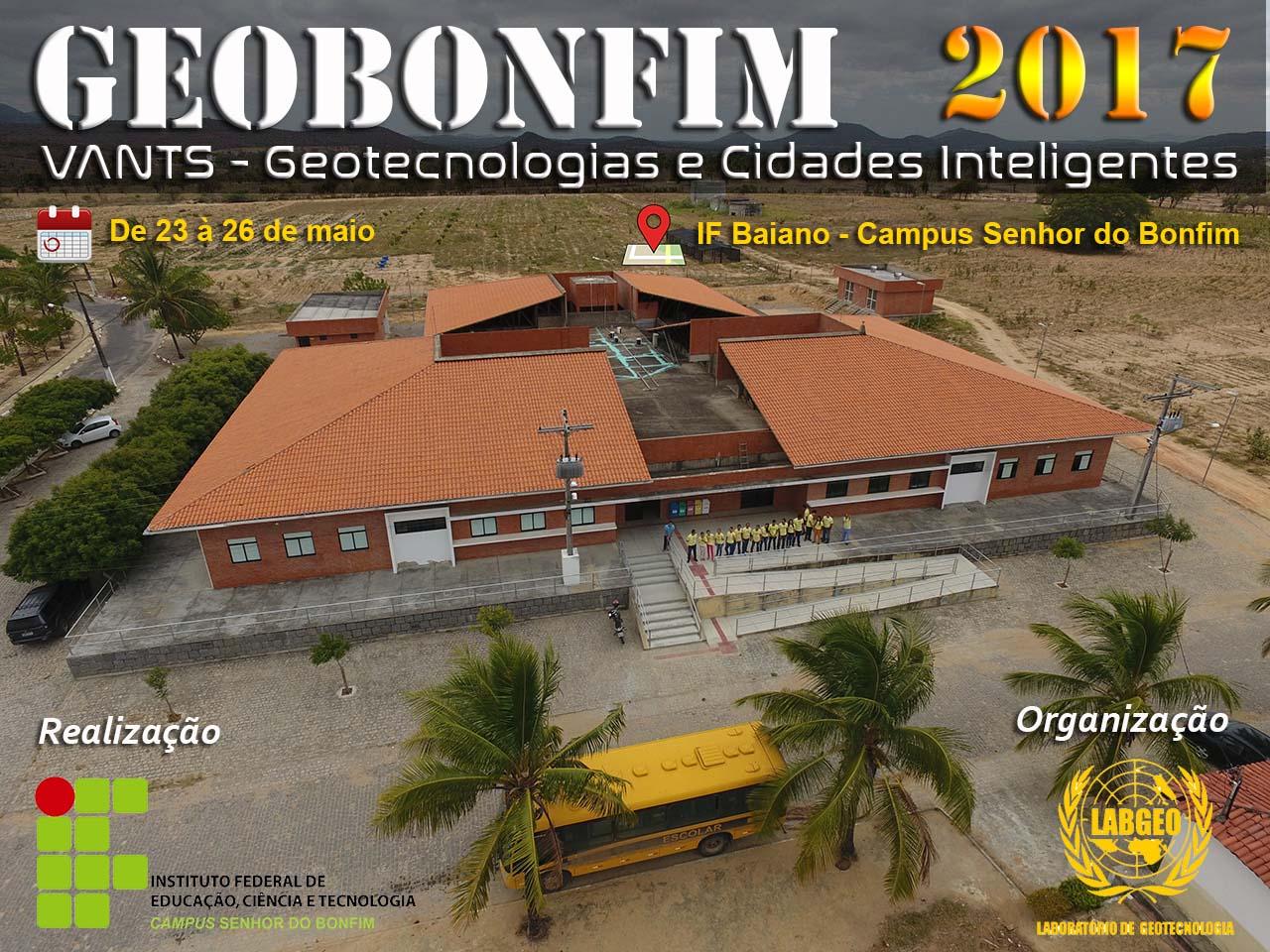 banner geobonfim2017 O GEOBONFIM 2017, já tem programação de palestras definidas. Confira