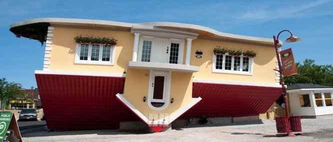 Casas de cabeça para baixo