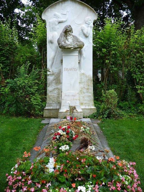 Viena Áustria Cemitério Brahms Mundo Indefinido