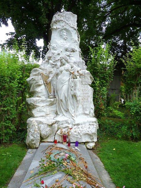 Viena Áustria Cemitério Strauss Mundo Indefinido