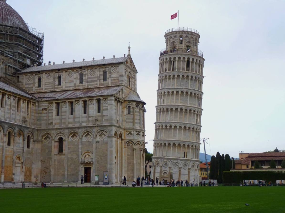 Torre di Pisa Inclinação Itália Mundo Indefinido
