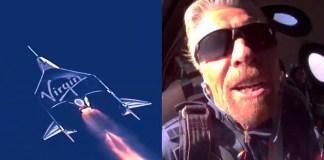 Richard Branson voa pela primeira vez ao espaço