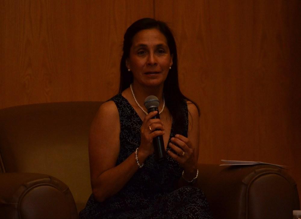 Mtra. Magdalena Barba, profesora del Departamento Académico de Economía, en el Seminario de Compromiso Social del ITAM 2017