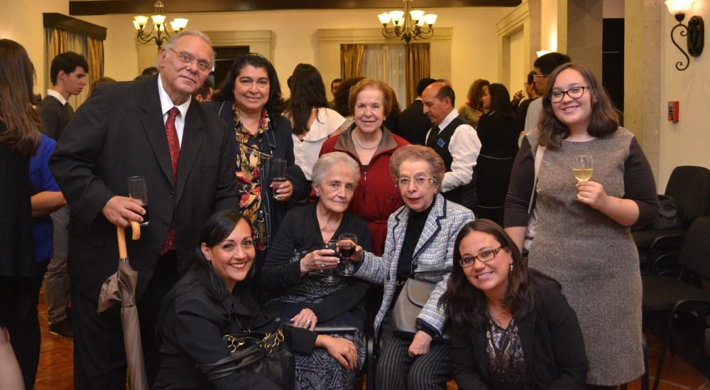 Familiares del profesor Federico García Sámano. FOTO: ITAM