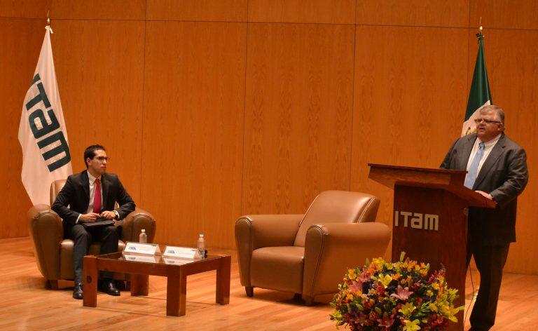 Conferencia: El reto de las Instituciones Financieras. FOTO: ITAM