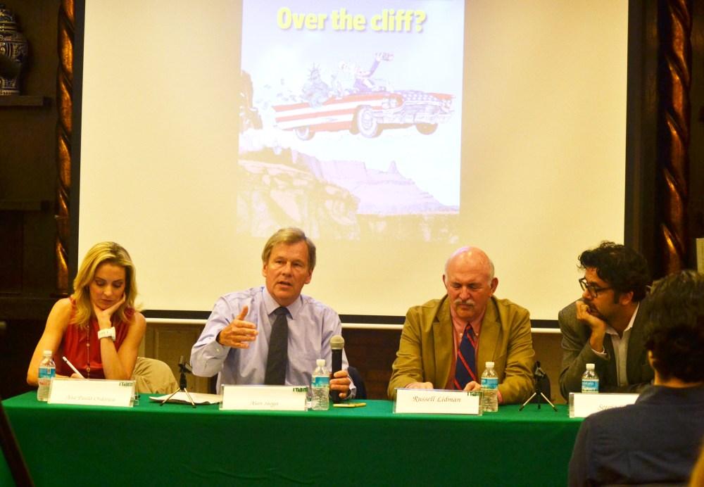 Ana Paula Ordorica, Alan Stoga, Russel Lidman y Sergio Silva. FOTO: ITAM