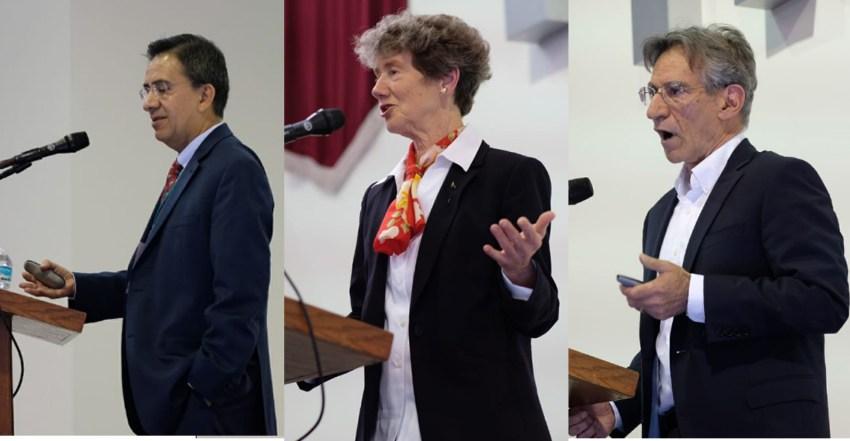 Enrique Mendoza, Nancy Stokey y Joe Altonji en el SED 2018. Foto: ITAM